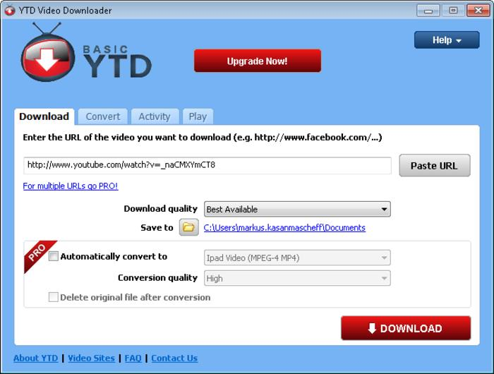 aTube Catcher Alternative - YTD Video Downloader