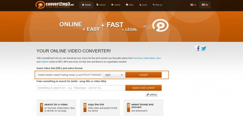 Download VEVO Videos to MP3 - Copy and Paste VEVO Video URL