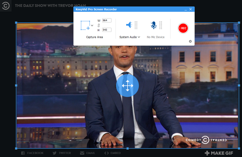 Download Daily Show Videos - recording way step 2