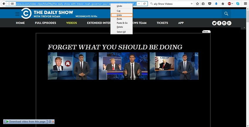 Download Daily Show Videos - download way step 2