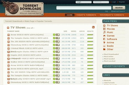 KickAss Torrents alternative - site 4