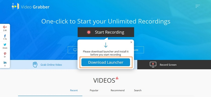 YouTube recorders for Mac-download launcher