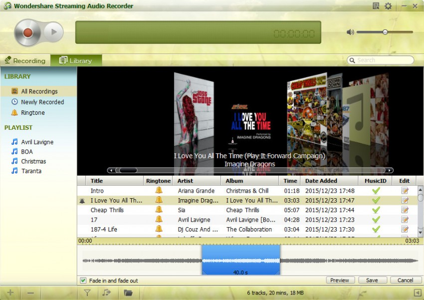 Extract Youtube videos-Streaming audio recorder