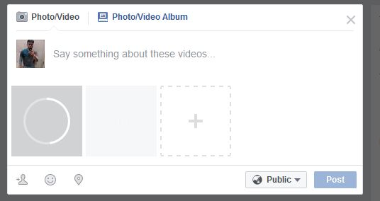 Add Screen Recording Video on Facebook - Post Video on Facebook