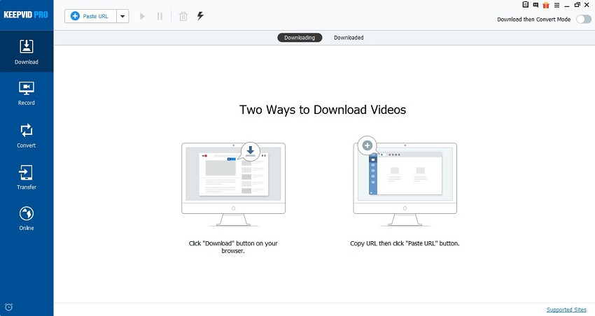 YouTube to Instagram Apps - Install and Start KeepVid Pro