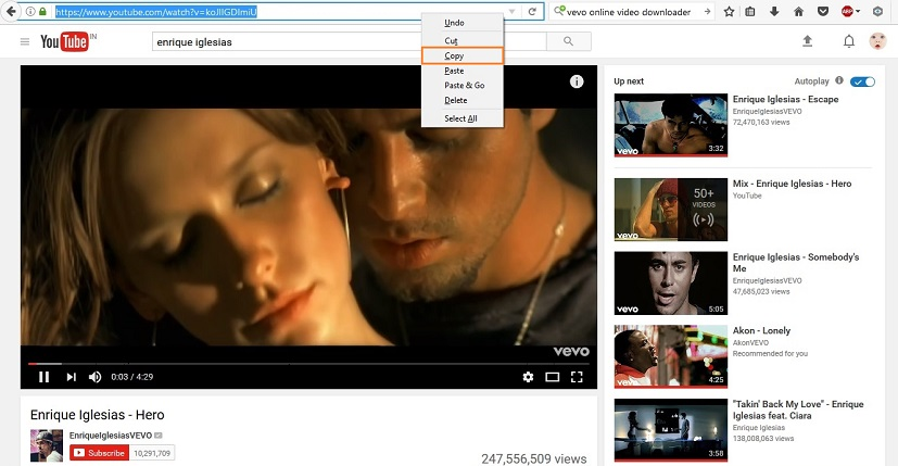 YouTube to Instagram Apps - Copy YouTube Video URL