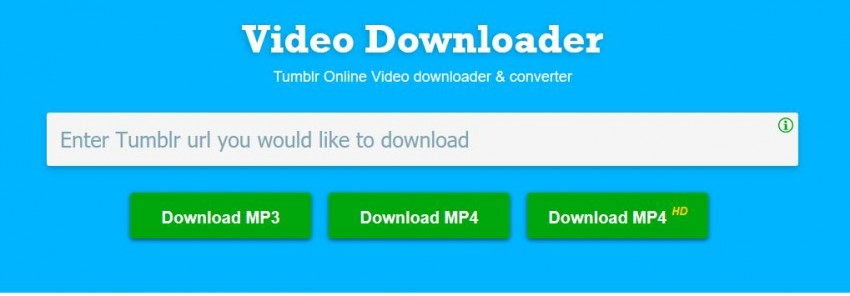 Tips to Download Tumblr Videos Online Easily - Download Audio Only