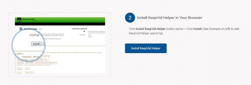 Download Tumblr Videos with Chrome - Install KeepVid Helper Script