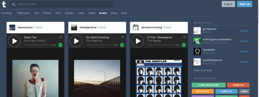 Download MP3 from Tumblr - Directly Explore Audio from Tumblr