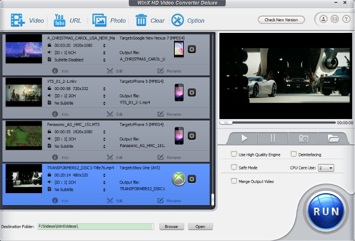 dailymotion downloader - WinX HD Video Converter Deluxe