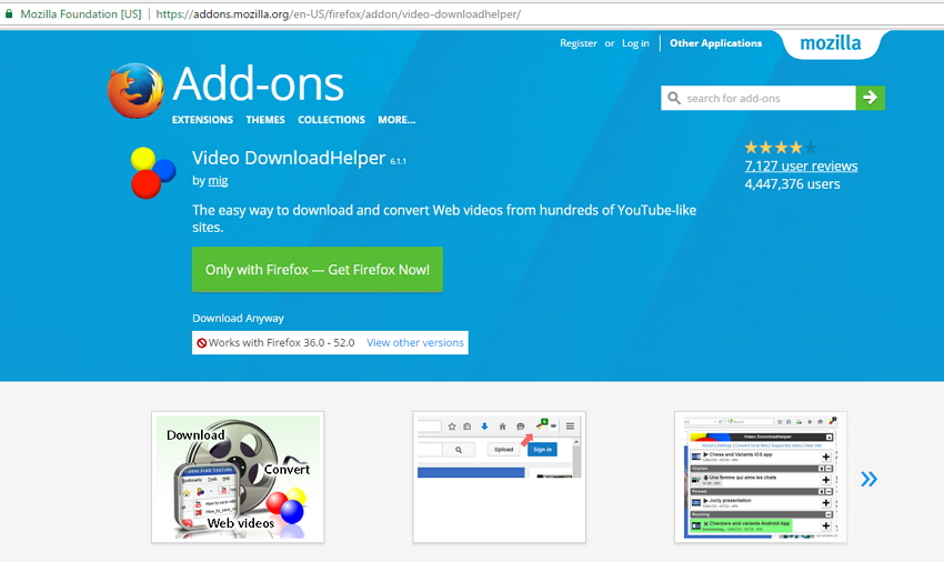 online Dailymotion Downloader - Video DownloadHelper