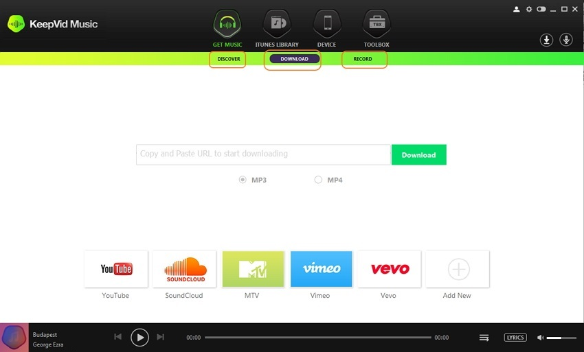 spotify to deezer - download music step 2