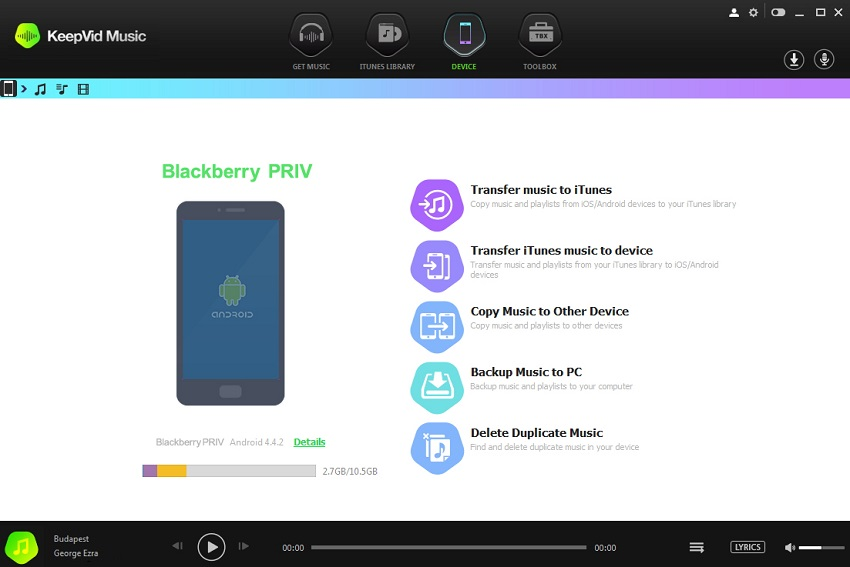 How to Download Spotify Music for Blackberry-download tunesgo and connect blackberry