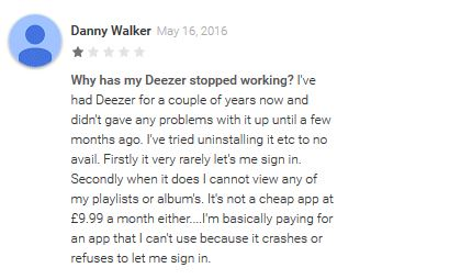 deezer music - Deezer Music Bad Reviews 3