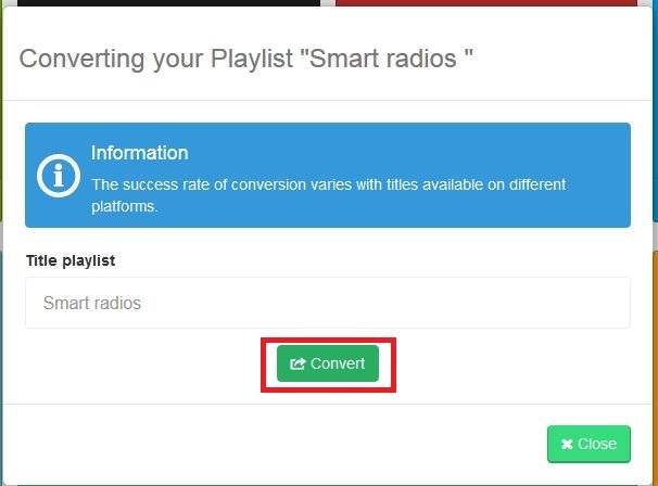 deezer playlist - export deezer playlists to spotify step 3
