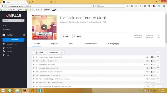 deezer radio - add Deezer radios to my favourites step 1