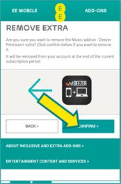 deezer subscription - confirm
