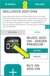 deezer subscription - option of Deezer App