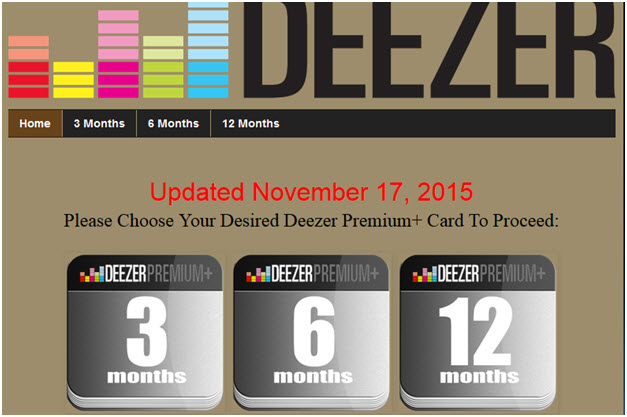 Deezer Premium - Through online blog