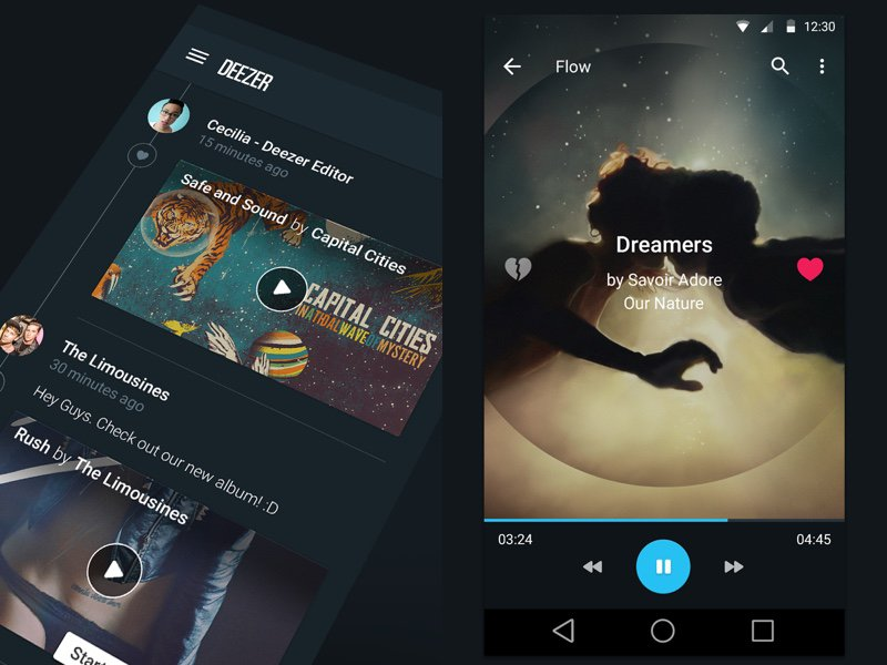 Deezer Vs Tidal- Design for deezer