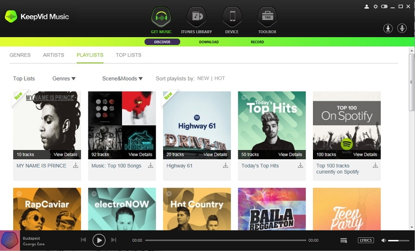 spotify to deezer - download music step 1