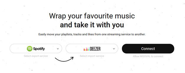 spotify to deezer - The Mooval process step 1
