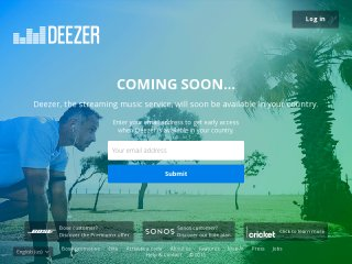 sign up for deezer - sign up from the country