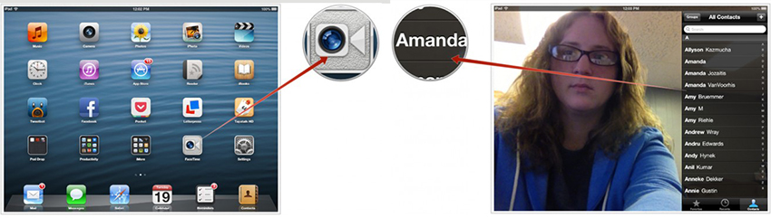 FaceTime from iPhone to Mac - FaceTime on iPhone step 4