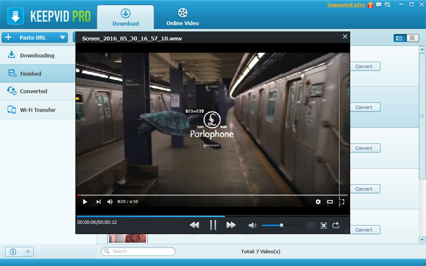 Record Video from Screen - Play Recorded Video