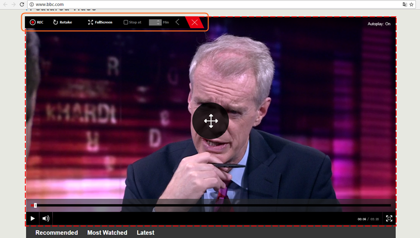 Download BBC Videos - Adjust the Frame of Recording