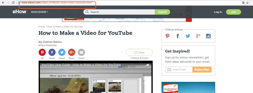 Download Videos from eHow - Copy Video URL