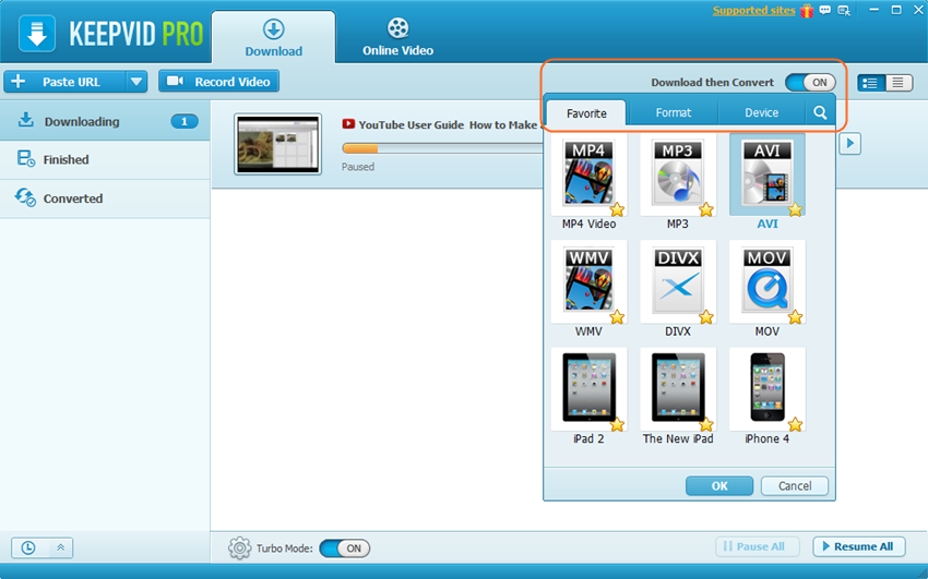 Download MP4 Movies - Download then Convert