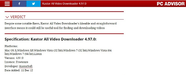 download moviefone movies - Kastor All Video Downloader review 1