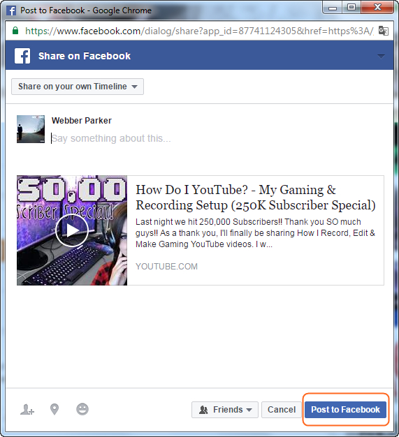 Add Screen Recording Video on Facebook - Share Video on Facebook
