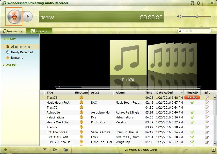 How to download music from itunes radio-click record button