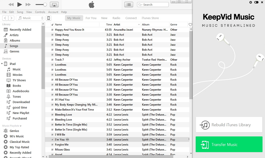 itunes for Android-transfer music