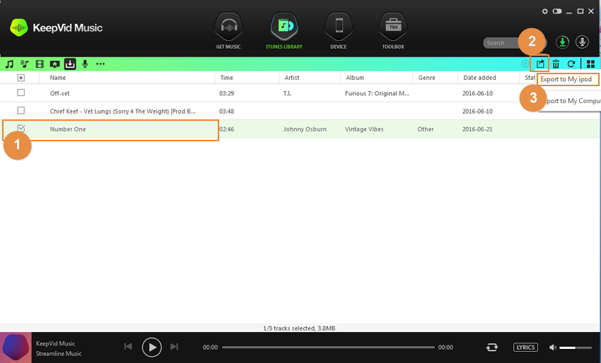 How to transfer music from youtube to ipodiphoneipad download and transfer youtube music with one app using keepvid music ccuart Choice Image