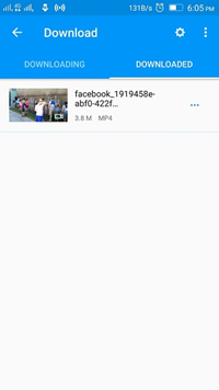 Download Facebook Videos to Phone - Finish Downloading Video