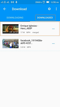 Android App to Download YouTube Videos - Finish Downloading YouTube Video