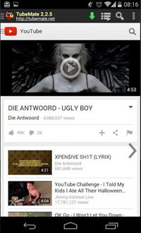 Android App to Download YouTube Videos - TubeMate