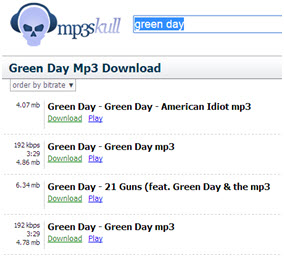 Mobile sites for free mp3 music download