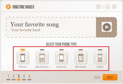 Create Ringtones for iPhone - Select the Type of the Phone