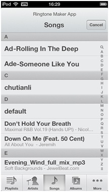 Create Ringtones for iPhone - Start Ringtone Maker App