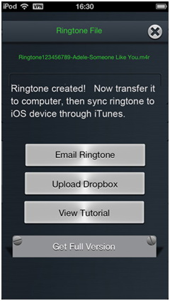 Create Ringtones for iPhone - Send iPhone Ringtone