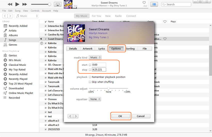 Create Ringtones for iPhone - Set Up Time Duration