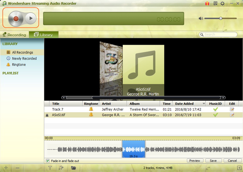 Create Ringtones for iPhone - Start Wondershare Streaming Audio Recorder