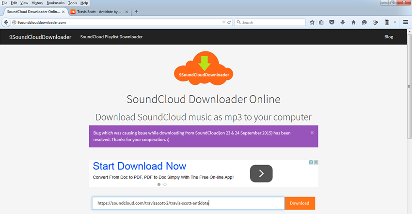Best free SoundCloud downloader online - Copy URL