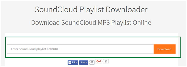 How to download music on soundcloud.com - Copy URL of the Playlist