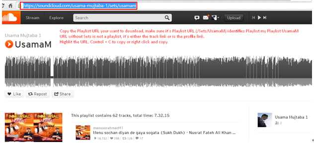 Easy Way to Download SoundCloud Playlist - Copy URL