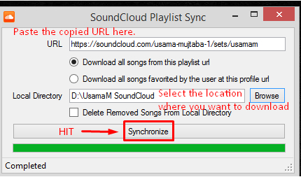 Easy Way to Download SoundCloud Playlist - Paste URL